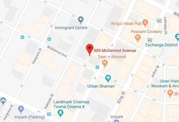 Map of 300-309 McDermot Avenue